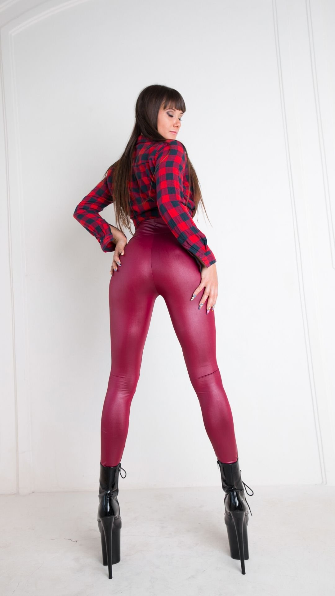 Knee Leggings Burgundy